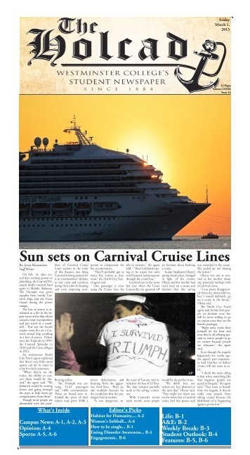 Sun sets on Carnival Cruise Lines