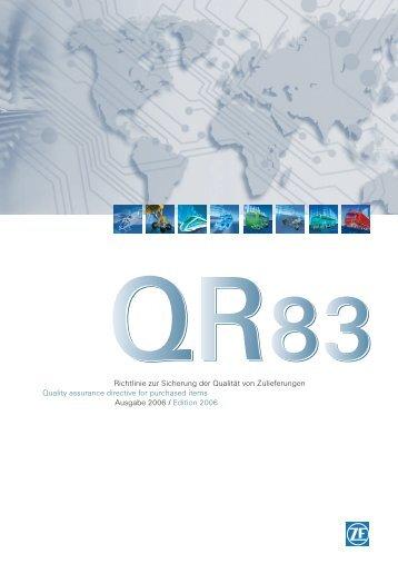 QR83 Richtlinie zur Sicherung der Qualität von Zulieferern - ZF ...