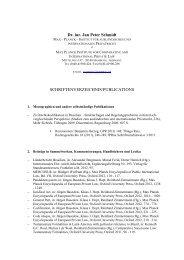 Schriftenverzeichnis - Max-Planck-Institut für ausländisches und ...