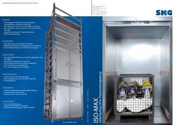 Güteraufzug ISO-MAX (1 MB) - SKG - Metallschneider GmbH