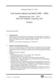 V.C.b.368. Carl Anton Ludwig von Orelli, Nachlass - Stadt Zürich