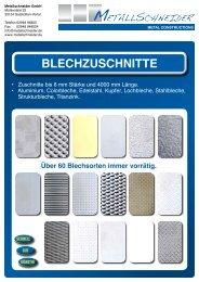 BLECHZUSCHNITTE - SKG - Metallschneider GmbH