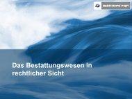 Mag. Jürgen Sild: Das Bestattungswesen in rechtlicher Sicht