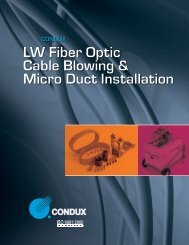LW Fiber Optic Cable Blowing & Micro Duct - Condux International ...