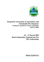 Session organizers - Integrated Assessment of Agriculture and ...