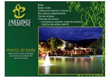 menu bodas 2013 - Jardines del Trapiche
