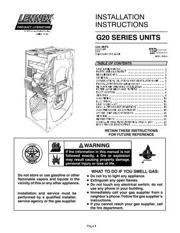 Excellent Lennox G20 Manual Wiring Digital Resources Indicompassionincorg