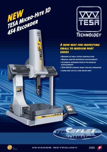 TESA Micro-Hite 3D 454 Recorder - HÓD Industrial Solutions
