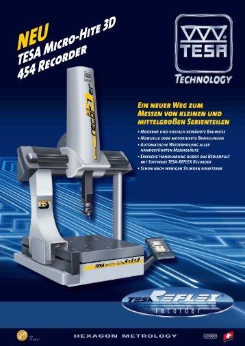 TESA Micro-Hite 3D 454 Recorder