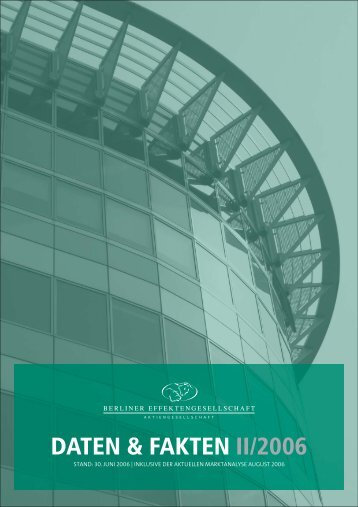 DATEN & FAKTEN II/2006 - Berliner Effektenbank AG