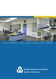 geschäftsbericht/jahresabschluss 2009 - Gemeindewerke Rüti