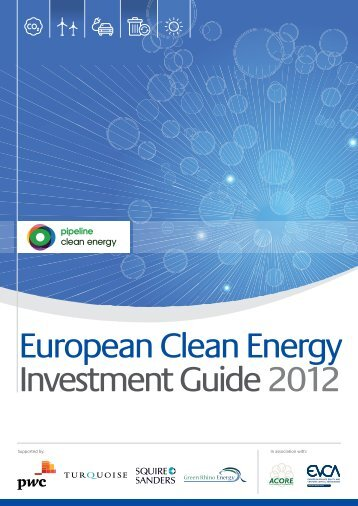 European Clean Energy Investment Guide 2012 - Pipeline
