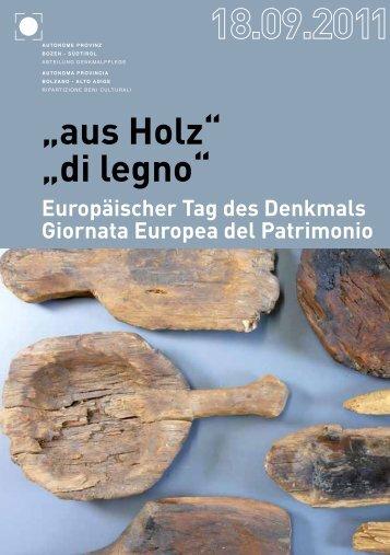 """""""aus Holz"""" """"di legno"""" - Rete Civica dell'Alto Adige"""