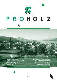 Vereinsheft Ausgabe 1 / 2011 als PDF - Pro Holz Schweiz