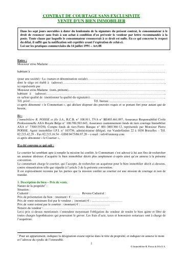 mandat de vente exclusif pdf