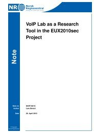 VoIP Lab as a Research Tool in the EUX2010sec Project - Norsk ...