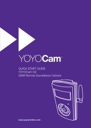 QUICK START GUIDE YOYOCam G3 GSM Remote ... - Yoyomotion