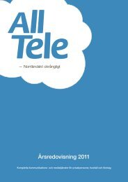 AllTele: Årsredovisning 2011 - beQuoted
