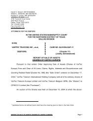 IN THE UNITED STATES BANKRUPTCY COURT FOR ... - BMC Group