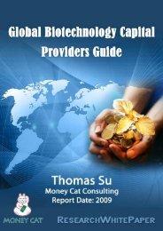 Global Biotechnology Capital Providers Guide - ResearchWhitePaper