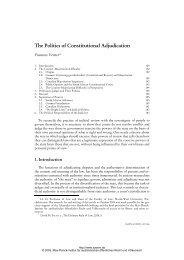 The Politics of Constitutional Adjudication - Zeitschrift für ...