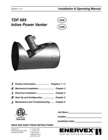 Exhausto Power Venter Rsib Enervex