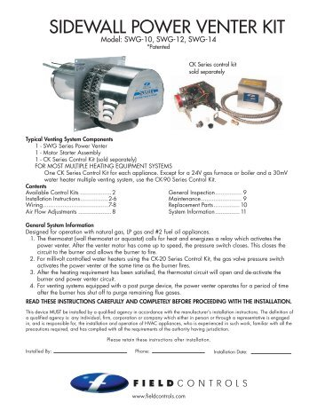 sidewall power venter kit field controls?quality=85 power venter kit field controls field power venter wiring diagram at gsmx.co