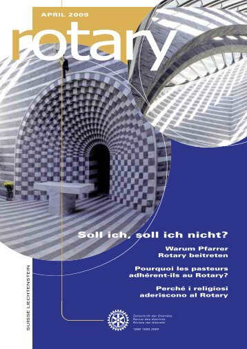 Download Magazin April 2009 (PDF 2,8 MB - Rotary Schweiz