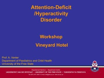 Attention-Deficit /Hyperactivity Disorder - Department of Paediatrics ...