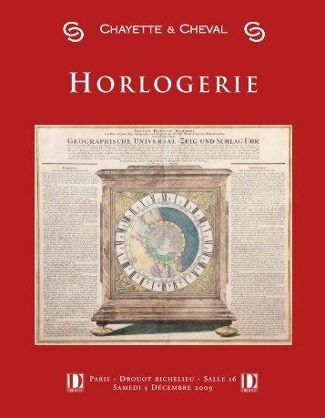 HORLOGERIE - Bibliorare