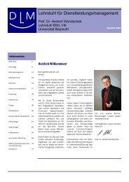 Jahresbericht 2007 - Prof. Dr. Herbert Woratschek - Universität ...