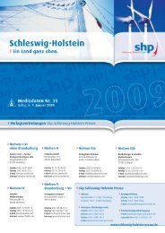 Verlagsvertretungen - Schleswig-Holstein-Presse