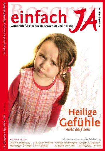 """Zeitschrift """"einfach JA"""" Ausgabe April/Mai 2010"""
