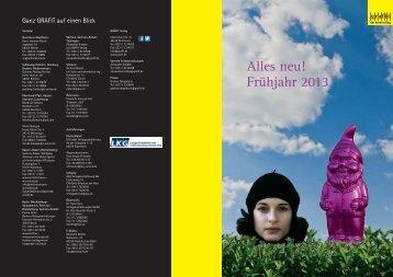 Vorschau Frühling 2013 - Grafit Verlag