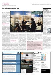 Spezial: Uni & Job - TALENTS - Die Jobmesse