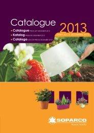 Catalogue Gamme grand public - Soparco