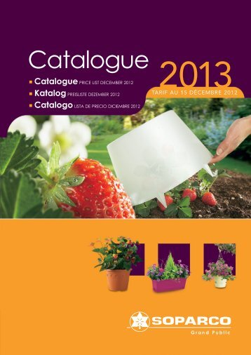 Catalogue Gamme grand public - Soparco