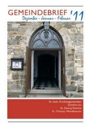 Gemeindebrief Dezember 2011 - Kirchenregion Schellerten