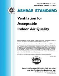 ASHRAE STANDARD Ventilation for Acceptable Indoor Air Quality