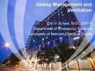 Airway Management and Ventilation - Creighton University