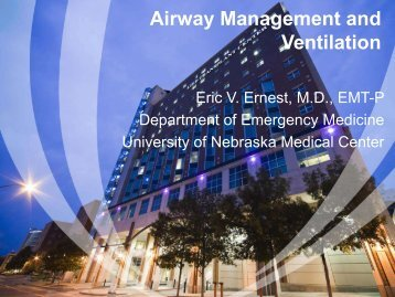 Airway Management and Ventilation - Creighton University
