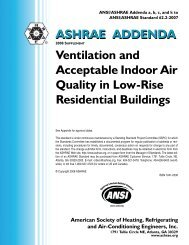 ASHRAE ADDENDA Ventilation and Acceptable Indoor Air Quality ...