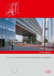 Product summary decentralised ventilation systems - emco klima
