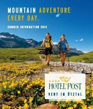 MOUNTAIN ADVENTURE EVERY DAY. - Hotel Post Vent