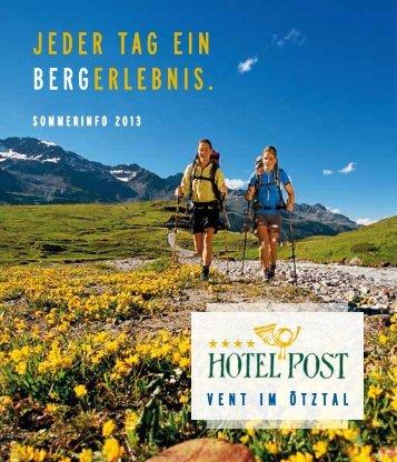 Preise Sommer 2013 - Hotel Post Vent
