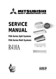 Error Codes – R410A - Mitsubishi Heavy Industries Ltd