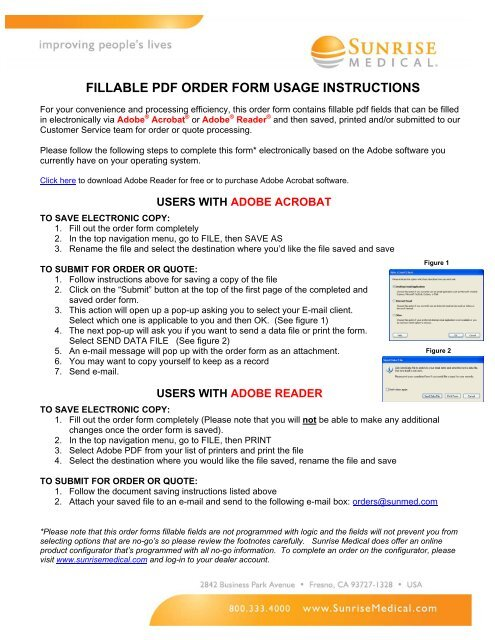 FILLABLE PDF ORDER FORM USAGE INSTRUCTIONS