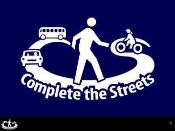 Complete Streets policy - Health by Design