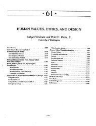 HUMAN VALUES, ETHICS, AND DESIGN - Value Sensitive Design