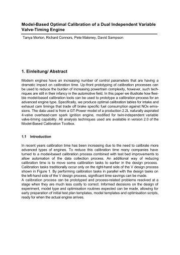 Model-Based Calibration of a Variable Valve Engine - MathWorks